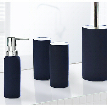 Non slip porcelain bathroom accessories matching tumbler for Grey toilet accessories