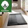 thick cotton bath rug with reversible design in snow white, slate grey, silver grey or natural
