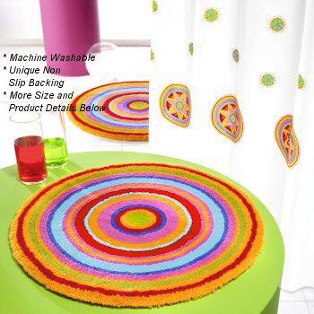 Lastest Colorful Stripe Doormat Home Microfiber Carpet Bath Mat Modern Kitchen